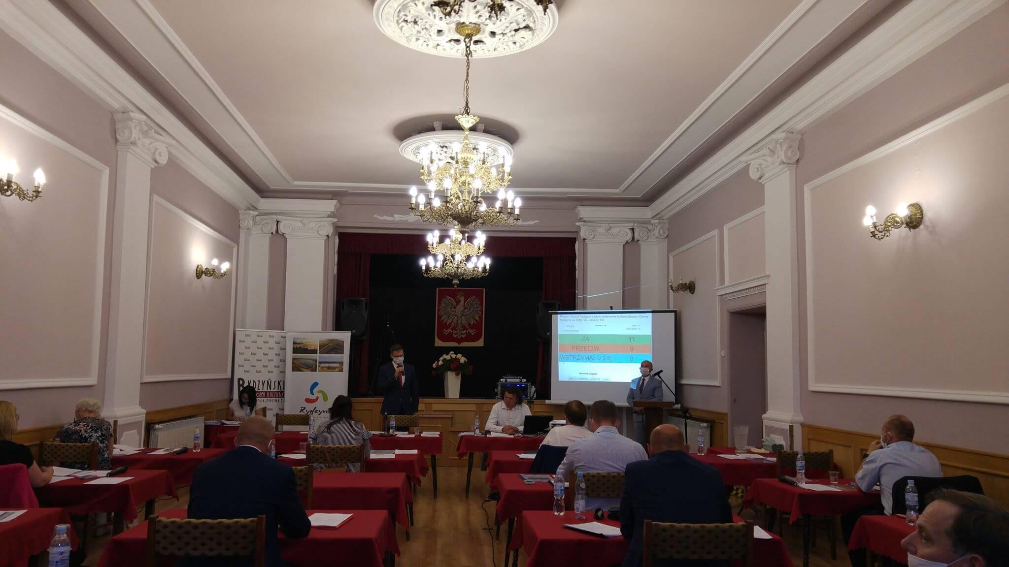 Absolutorium dla Burmistrza Rydzyny za wykonanie budżetu Gminy w 2019