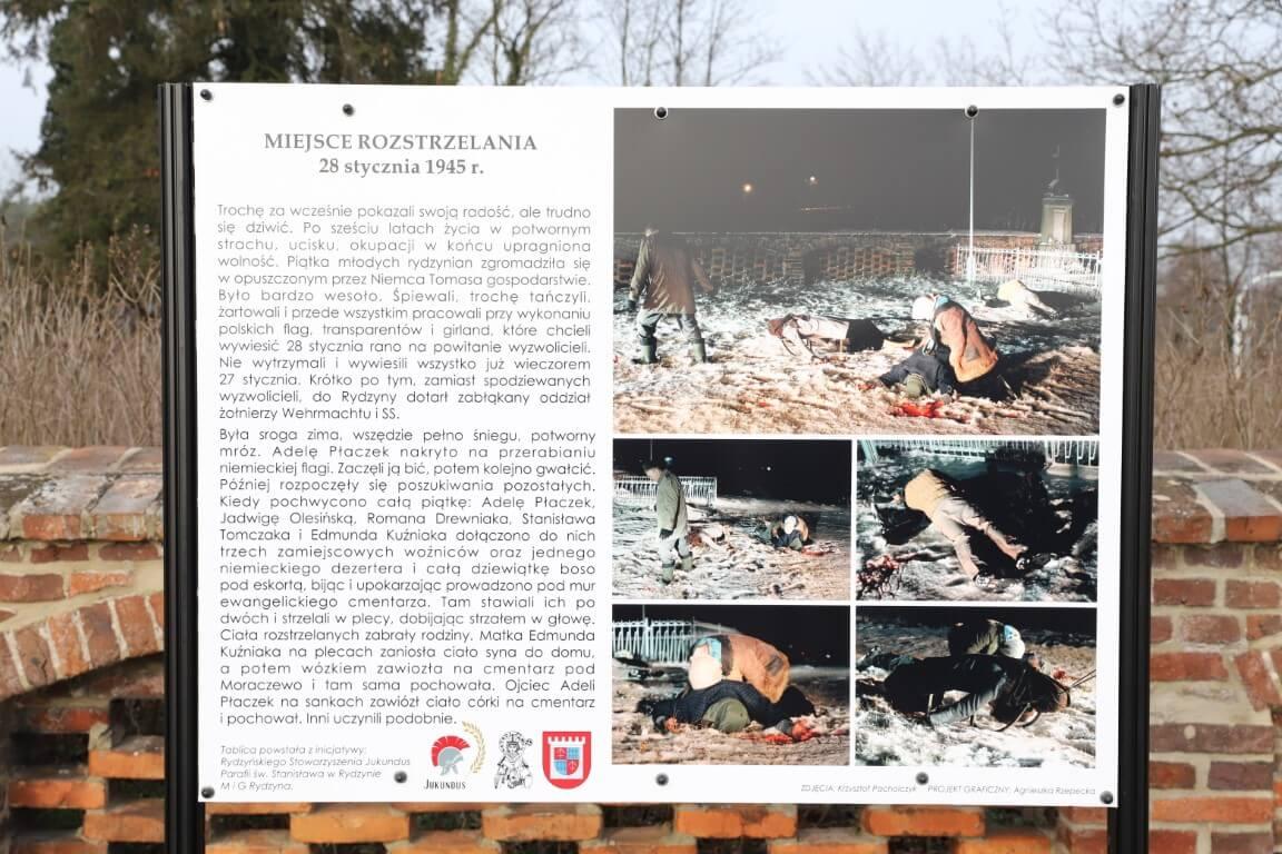 75. rocznica zamordowania Rydzyńskiej Ósemki – odsłonięcie tablicy pamiątkowej