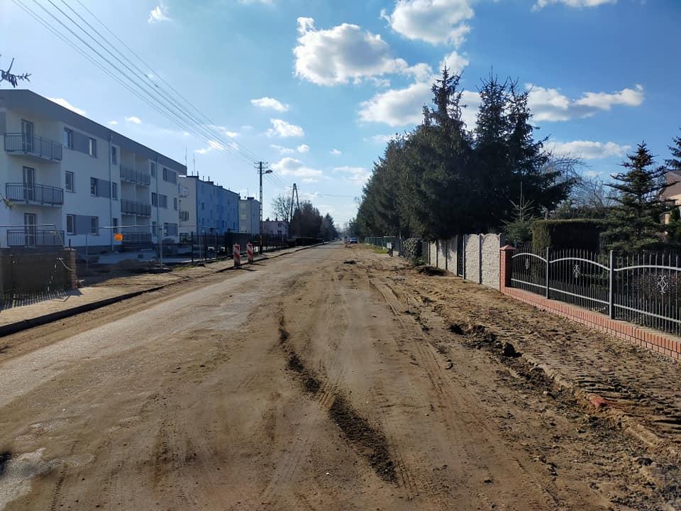 Mała Kłoda w trakcie przebudowy drogi
